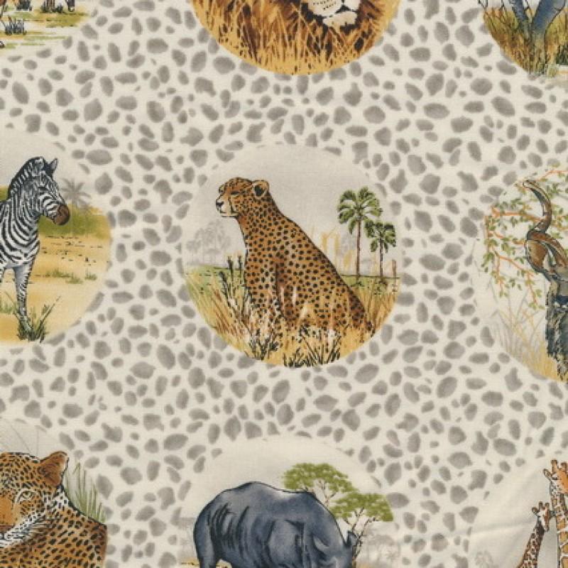 Afklip Patchwork stof afrika med cirkler 50x55cm-35