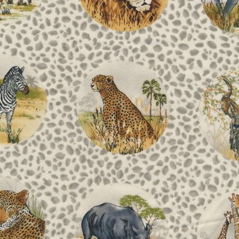 Rest Patchwork stof afrika med cirkler, 40 cm.