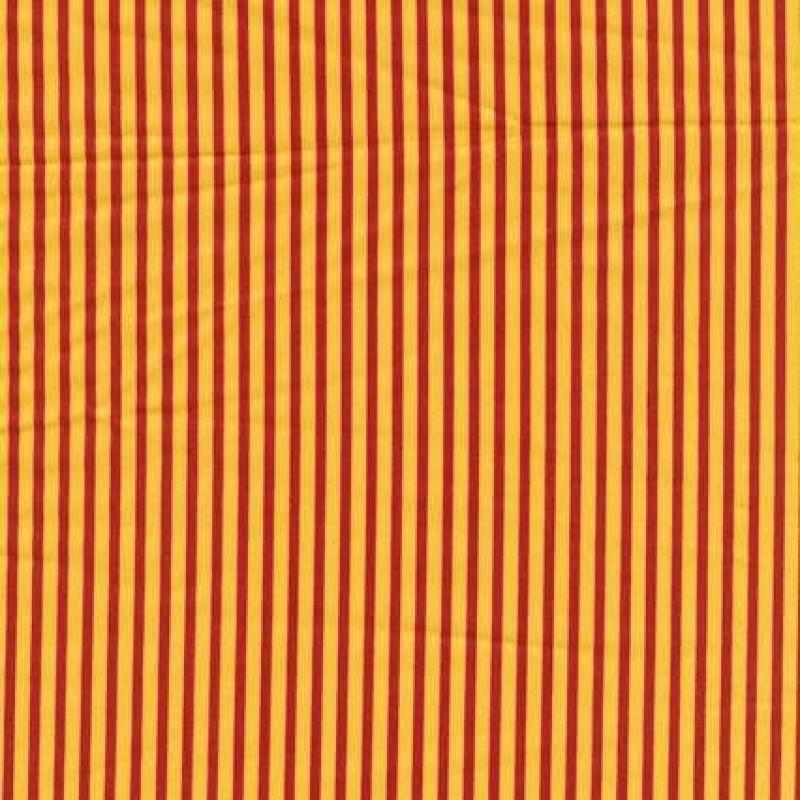 Rest Patchwork stof stribet poplin i gul og rød, 35 cm.-31