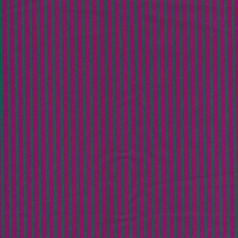 Patchwork stoffet er stribet poplin i pink og grøn