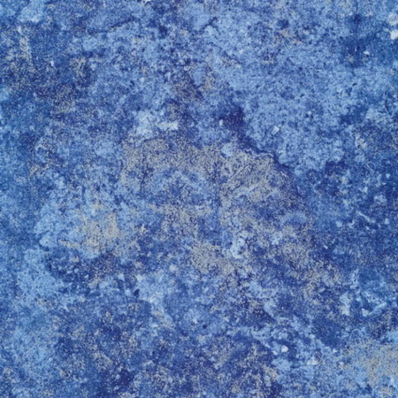 Patchwork stof batik med sølv, blå og lyseblå-31