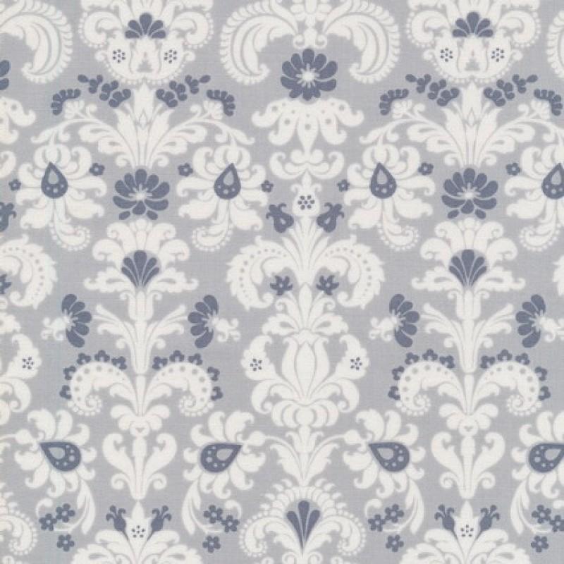 Patchwork stof med mønster i lysegrå, hvid og mørkegrå-33