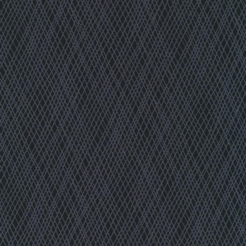 Patchwork stof med skrå striber i koks og grå-31