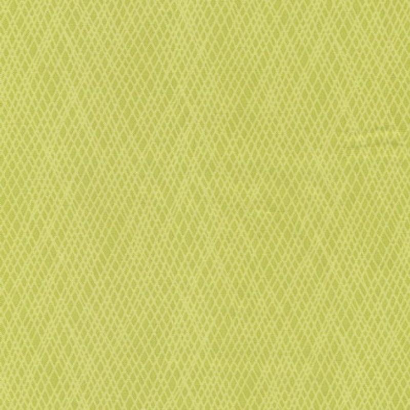 Patchwork stof med skrå striber i lime og lys lime-35