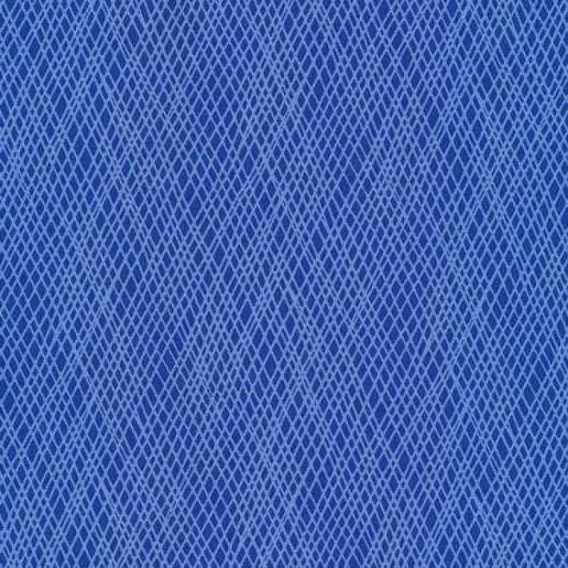 Patchworkstof med skrå striber i blå og lyseblå-31