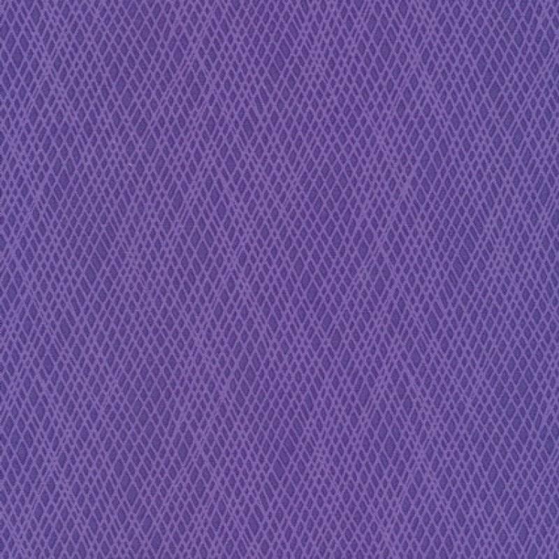 Patchwork stof med skrå striber i lilla og lyselilla