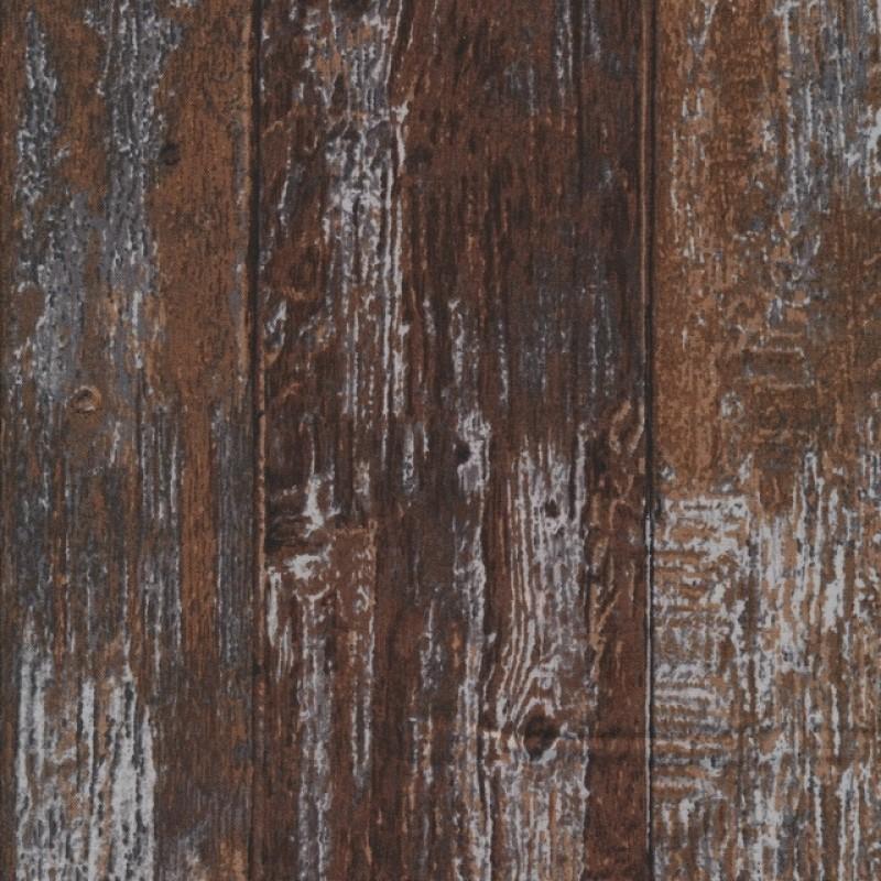 Patchwork i træ-look i mørkebrun brun og lysegrå-34