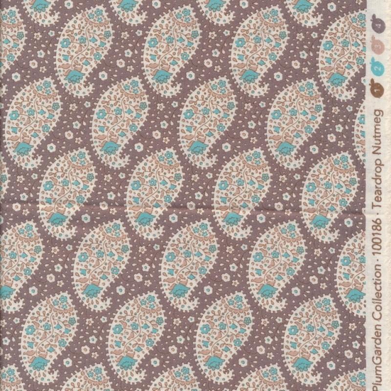 Tilda Patchwork stof i pudderbrun med sjalsmønster-35