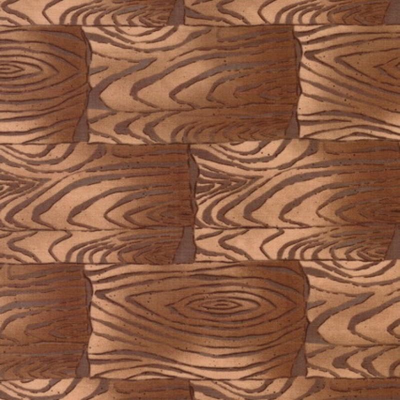 Patchwork træ-look i firkanter stof i lysebrun og beige-33