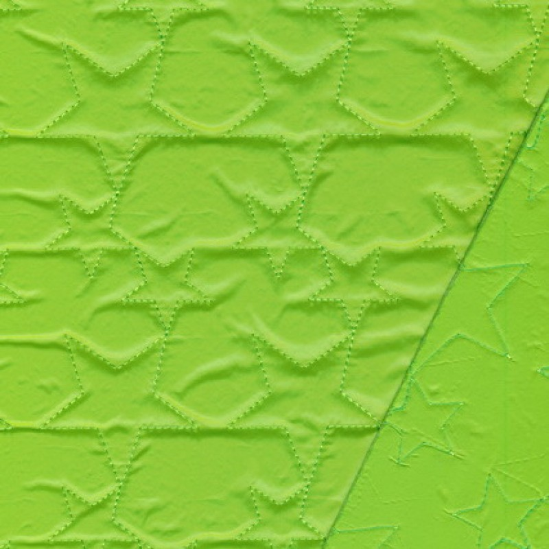 Quiltet m/stjerner, lime-35