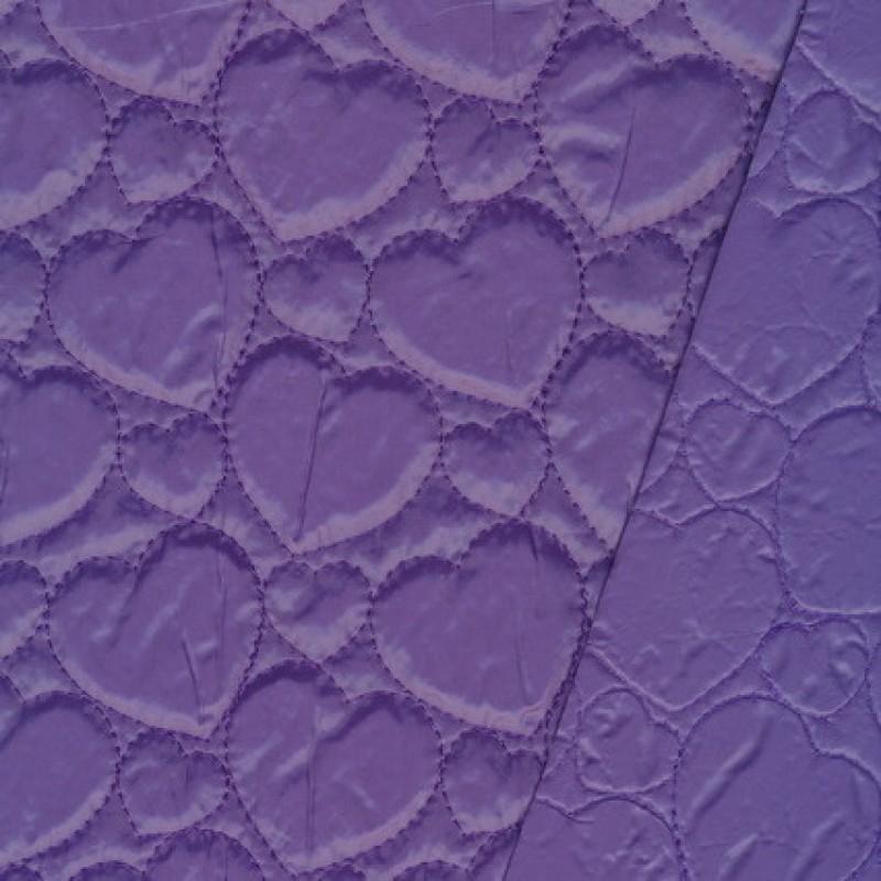 Rest Quiltet m/hjerter, lys lilla- 40 cm.