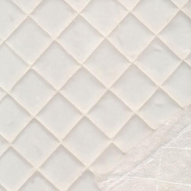 Quiltet med tern i offwhite