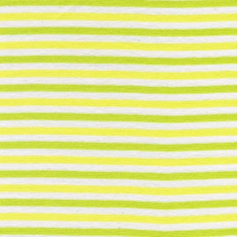 50 cm. Stribet rib off-white/lime/lime-gul-31