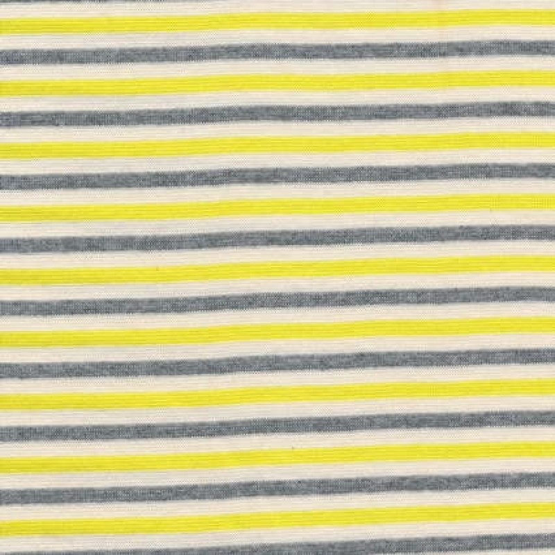 Stribet rib off-white/gul/grå-31