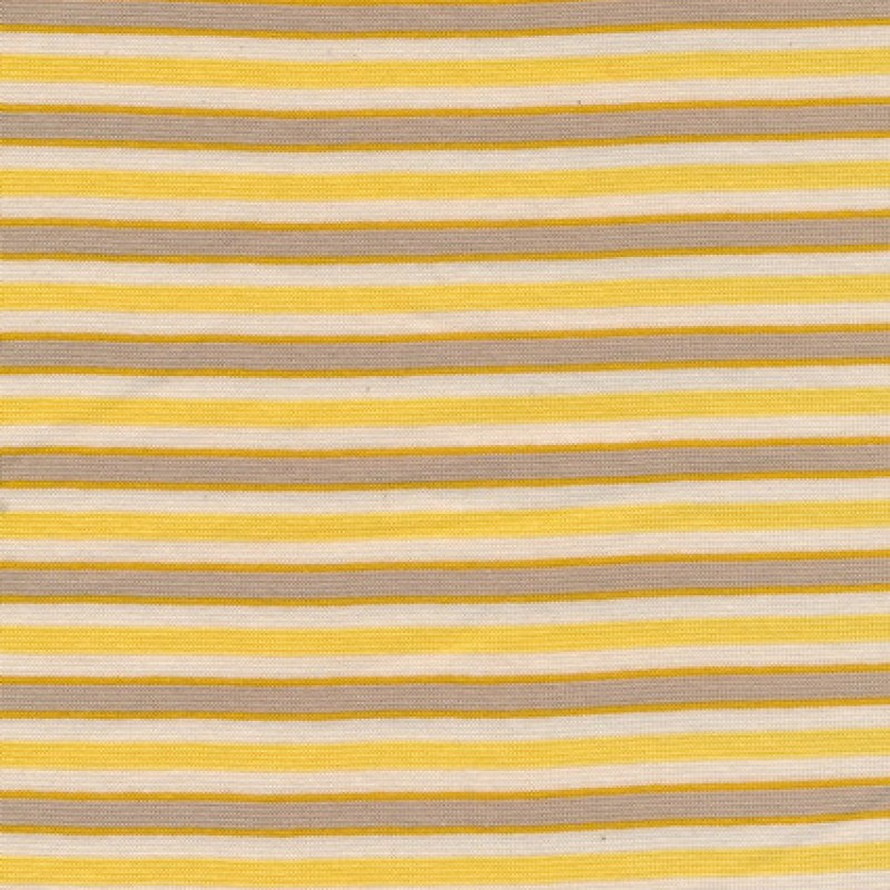 Rest Stribet rib off-white/gul/grå/okker 10 cm.-33