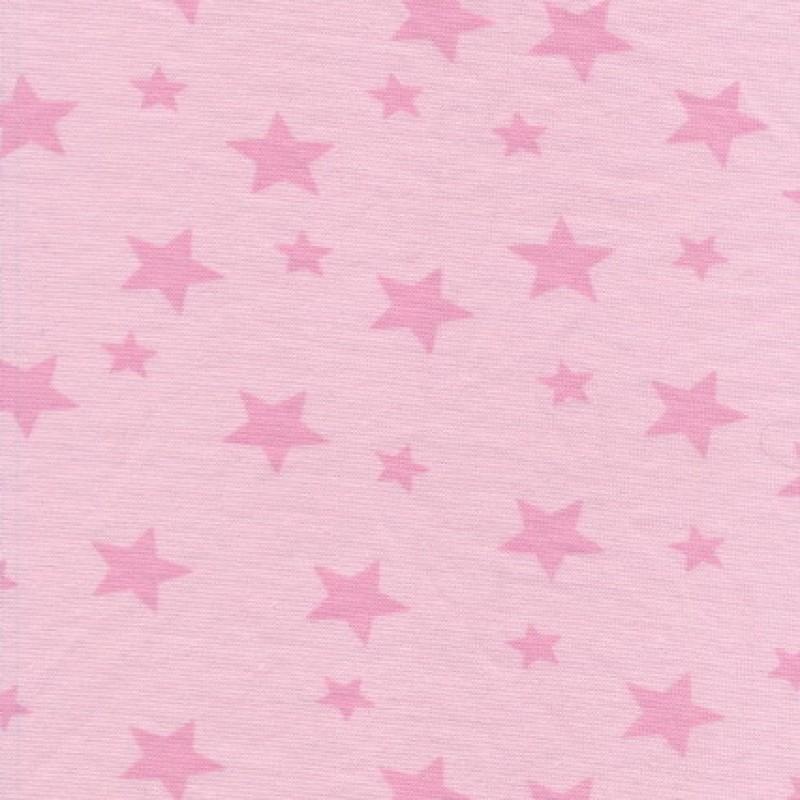 Rest Rib m/stjerner babylyserød/lyserød, 35 cm.