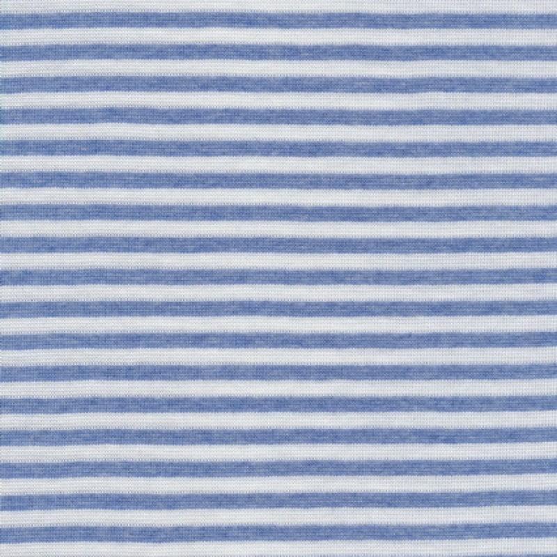 Stribet rib hvid/lys denim-35