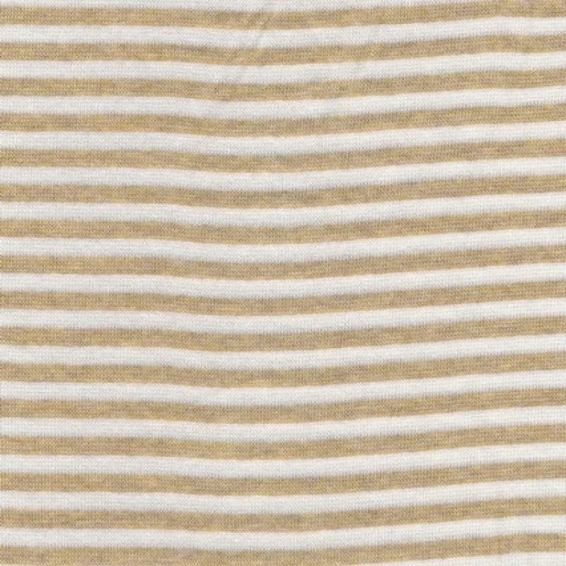 50 cm.Stribet rib off-white/meleret lysebrun-33
