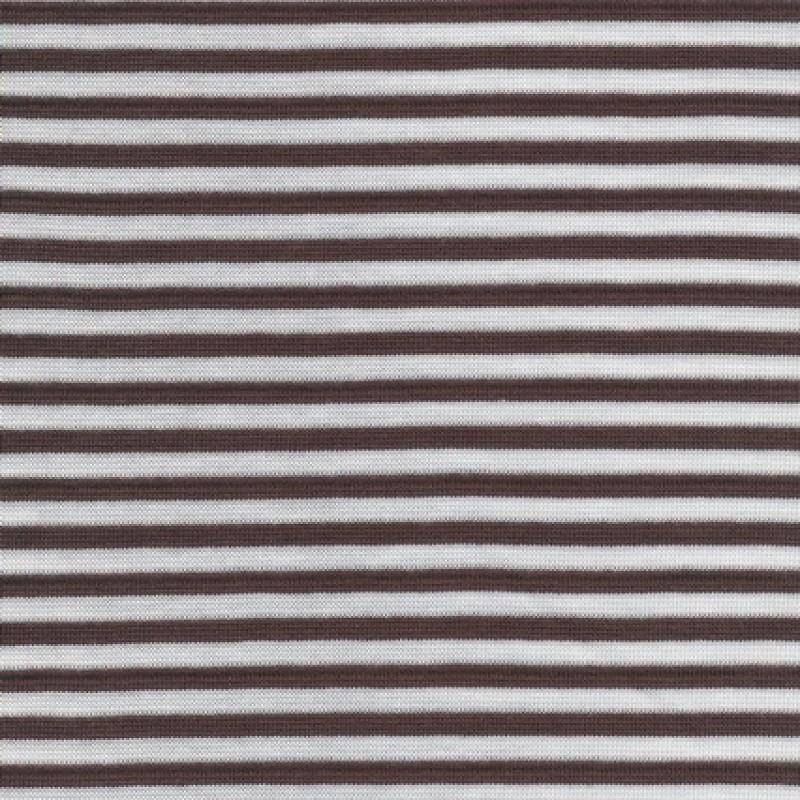 Rest Stribet rib brun/hvid, 57 cm.