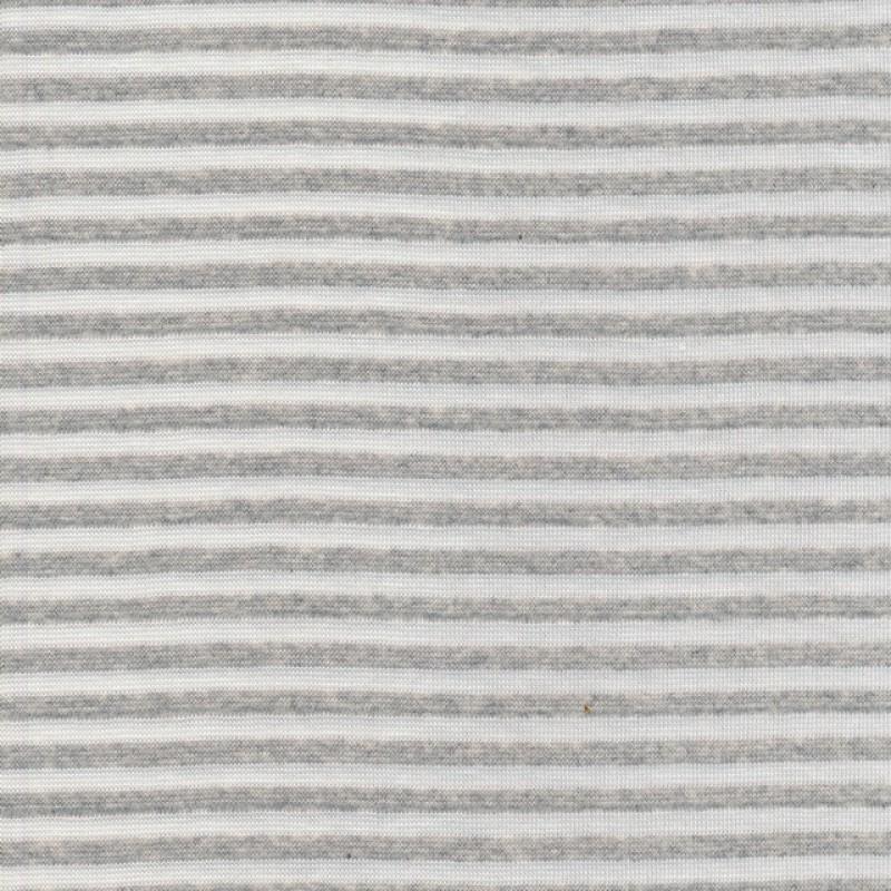 Stribet rib knækket hvid/lysegrå meleret-31