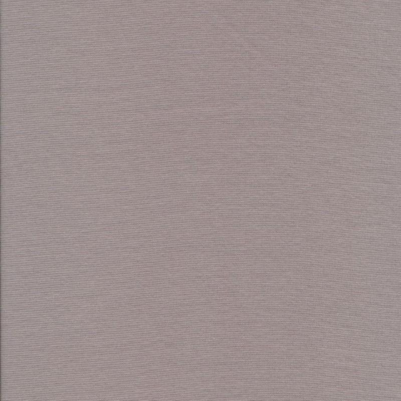 Strikstof Rib lysegråt stof kit bomuld-lycra økotex 100-33