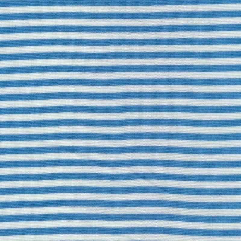 50 cm. Stribet rib hvid/lys blå-37