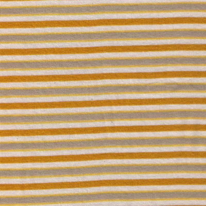 Rest Stribet rib okker beige off-white, 25 cm.