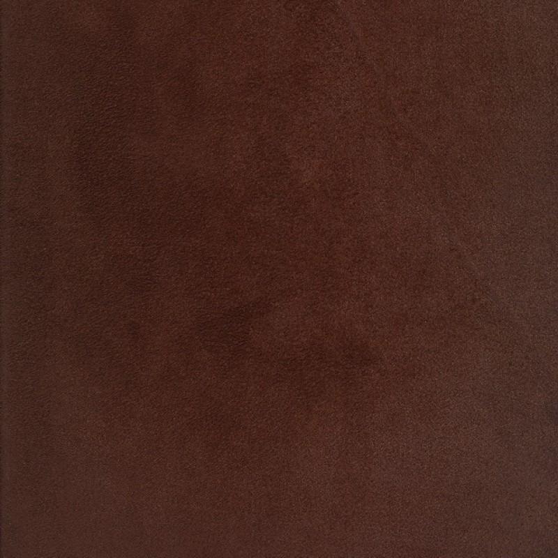 Imiteret ruskind/alcantara med stræk i chokoladebrun-36