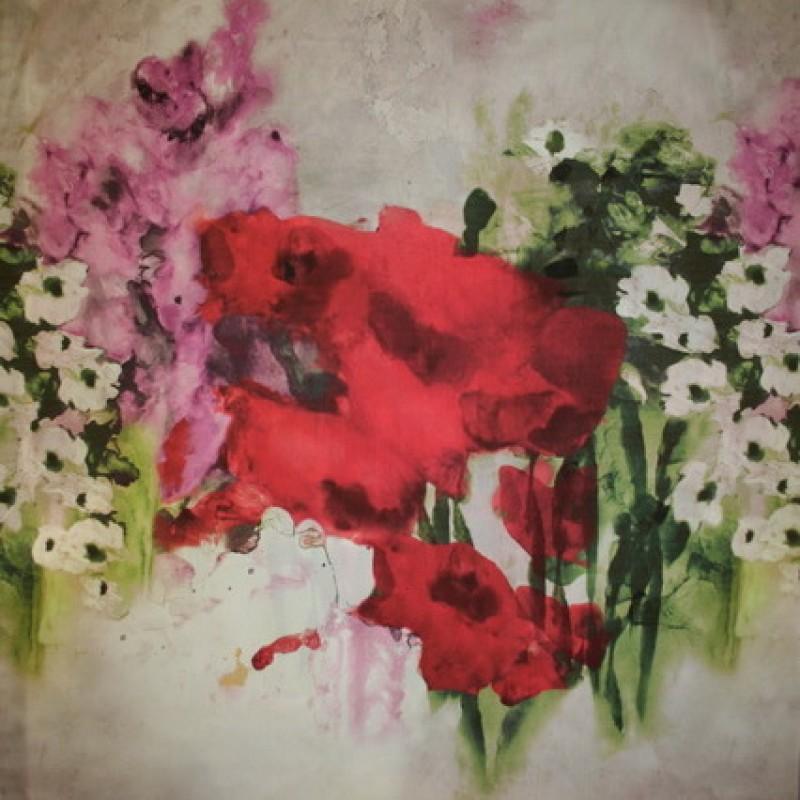 Afklip Satin m/stor blomst