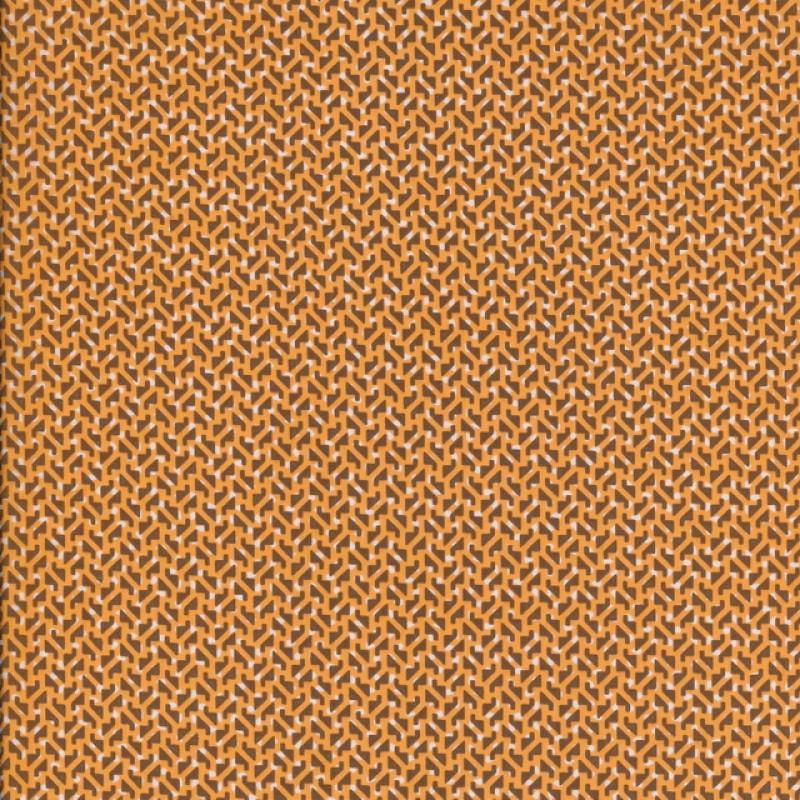 Silke m/lile mønster orange/lys brun/hvid-35
