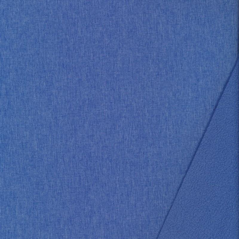 Softshell meleret blå og lyseblå