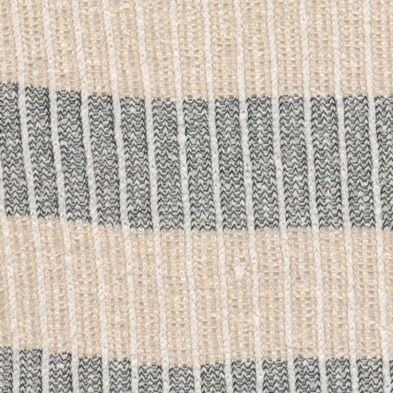 Stribet strik off-white/koks/sand