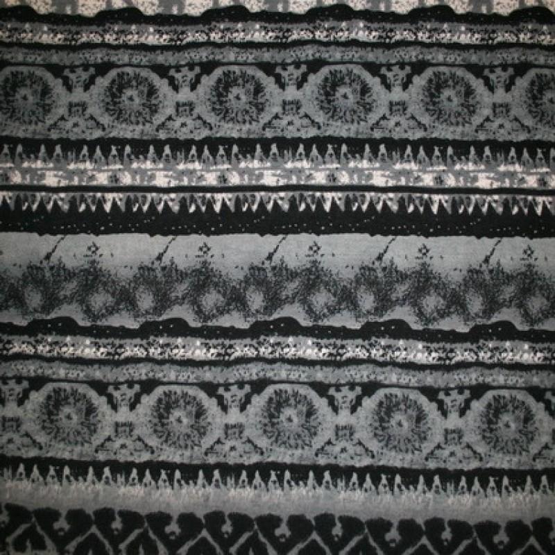Strik m/stribe-mønstret sort/grå/off-white-35
