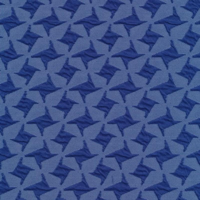 Rest Jacquard strik i hanefjeds-look, blå/klar blå, 35 cm.-31