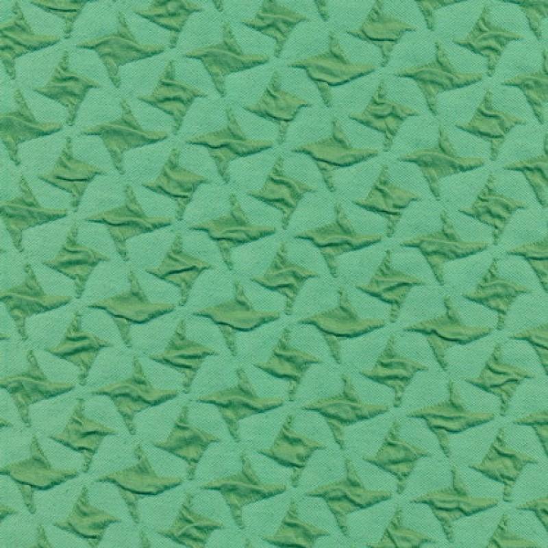 Rest Jacquard strik i hanefjeds-look, mint/grøn, 150 cm.-33