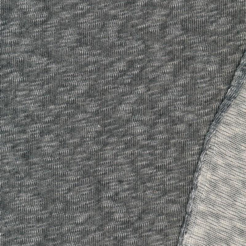 Meleret strik, koksgrå/off-white