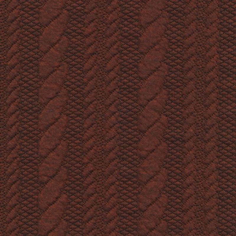 Rest Strik m/kabel-mønster, brændt orange, 98-145 cm.-31