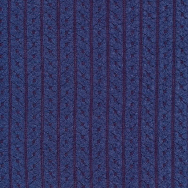 Jacquard strik m/kabel-mønster, lavendel-blå-35
