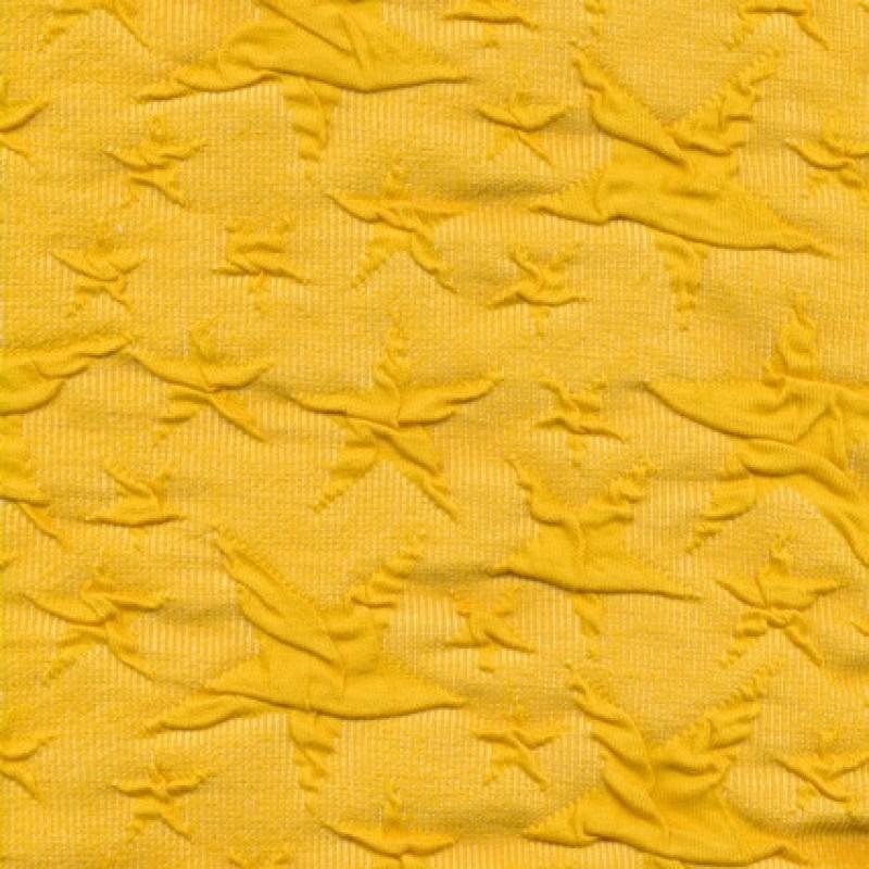 Rest Jacquard strik jersey stjerner, gul, 100 cm.-35