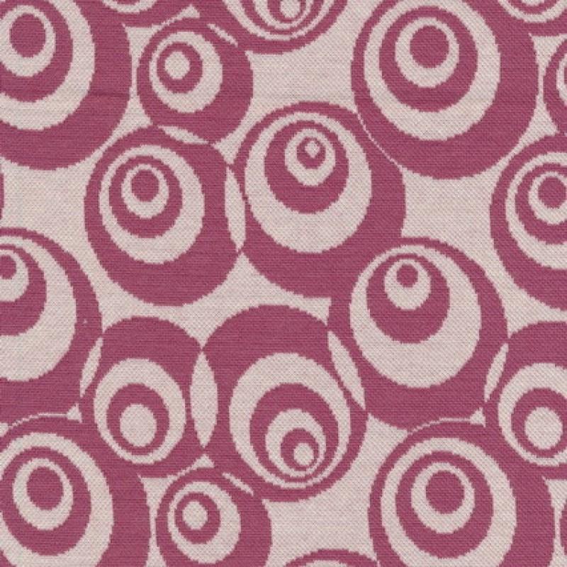 Afklip Jacquard strik m/cirkler off-white/mørk rosa, 75 cm.-35