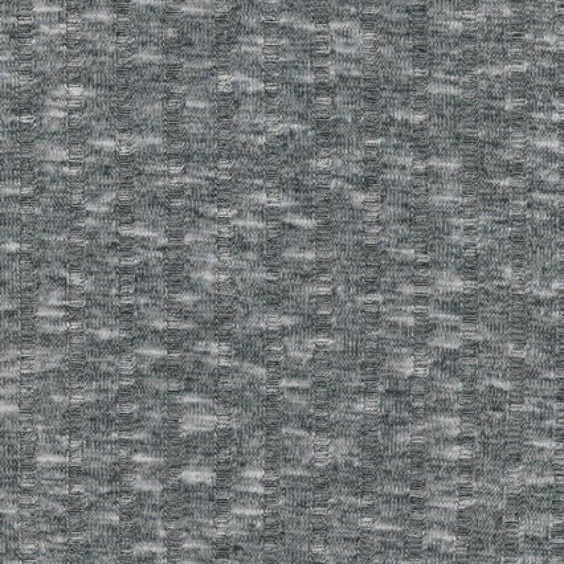 Ribstrikket meleret strik, lysegrå/sort