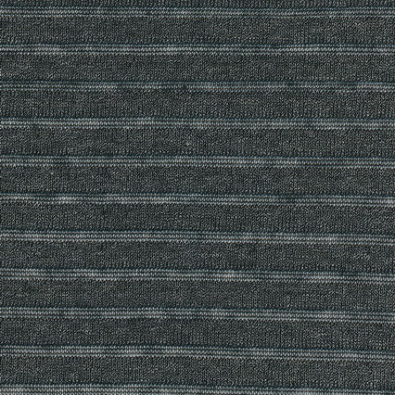 Strik stribet koksgrå meleret/sort transperant