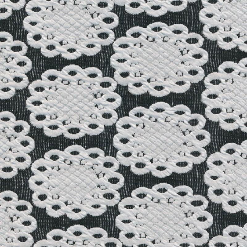 Jacquard strik m/flacon/cirkel sort/knækket hvid