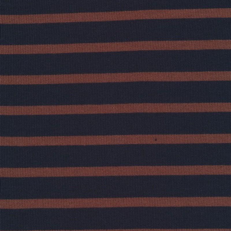Rest Stribet strik mørkeblå/rød-brun, 110 cm.-35