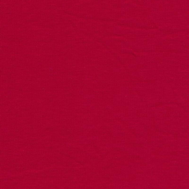 Jersey/strik bomuld/lycra, rød   strikstof-33