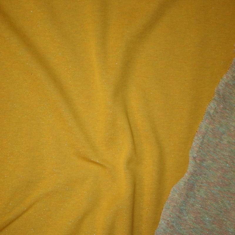 Rest Strik med lurex carry-gul multifarvet, 85 cm.-36