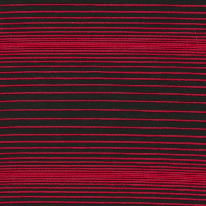 Rest Let strik stribet sort rød, 120 cm.