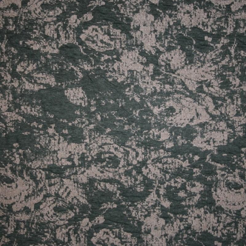 Jacquard strik med roser i army sand-315