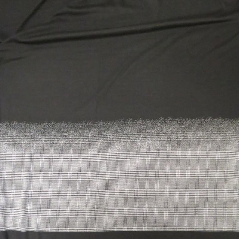 Vinter jersey strik med tern i rapport i sort og hvid-38