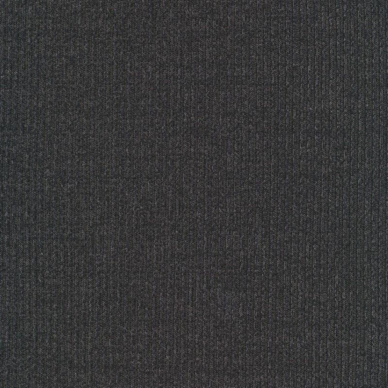 Rest Ribstrikket meleret strik i viscose polyester, koksgrå- 65 cm.